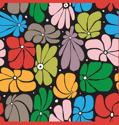 Seamless floral pattern design with stylized vector