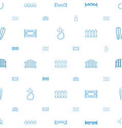 seamless icons pattern white background vector image