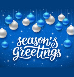 Seasons greetings background for holidays vector