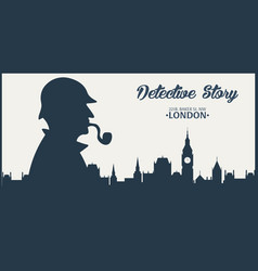 sherlock holmes detective vector image