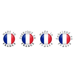 simple made in france french translation 3d vector image