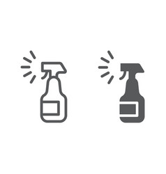 Sprayer line and glyph icon aerosol and clean vector