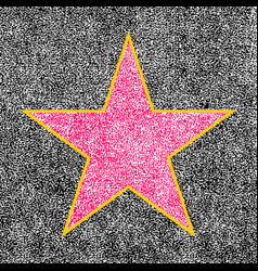 star from hollywood walk of fame vector image