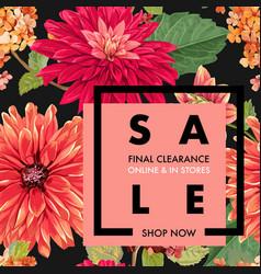 Summer sale tropical banner seasonal promotion vector
