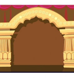 Temple archway vector