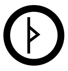 Thurisaz rune tpurizas tor thorn icon black color vector