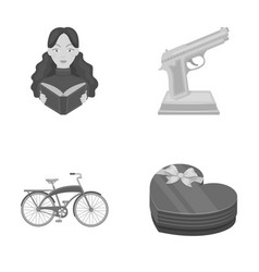 Training sport and other monochrome icon in vector