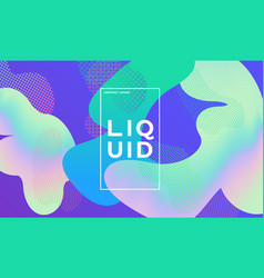 trendy design template with fluid gradient shapes vector image