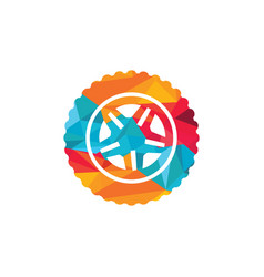 tyre company or tyre shop logo design vector image