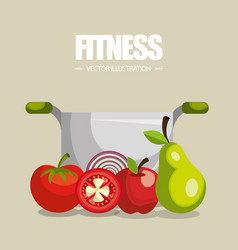 vegan diet healthy lifestyle vector image