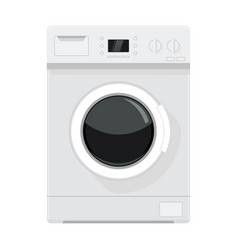 washing machine flat design vector image