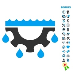 Water Service Flat Icon with Bonus vector image