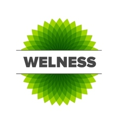 Wellness - logo template vector