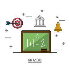 White background poster education vector