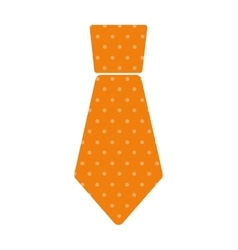yellow necktie man celebration father day dotted vector image