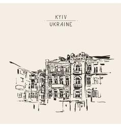 original sketch of Kyiv Ukraine town landscape vector image vector image