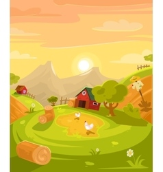 Retro of the countryside vector