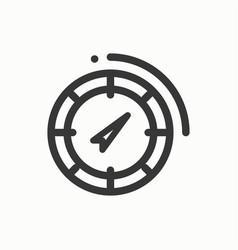 compass line simple icon weather symbols vector image