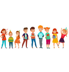 kids party retro composition vector image