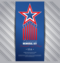 memorial day concept design remember and honor vector image