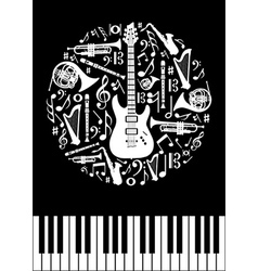 Music concept circle vector image vector image