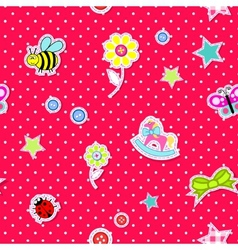 seamless background with baby elements vector image vector image
