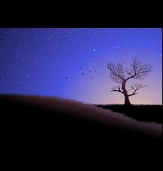 twilight in meadows vector image vector image