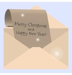 congratulations on Christmas vector image