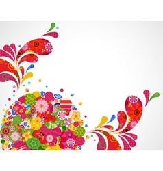 Floral ornamental background card vector image vector image