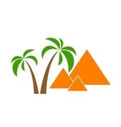 palms pyramids vector image vector image