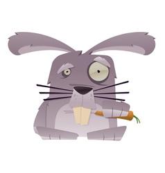 strange rabbit vector image vector image