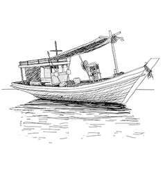 thai fishing boat vector image