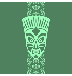 Tribal style card with mask vector image vector image