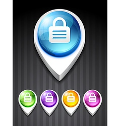 3d style lock icon vector image vector image