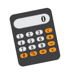 calculator icon flat cartoon style isolated on vector image vector image