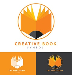 Creative book icon vector image