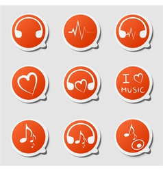 music theme icon vector image vector image