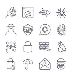 16 web safety icons vector