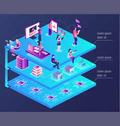 3d isometric vector image