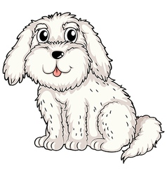 A white puppy vector