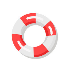 banner depicting red and white lifebuoy vector image