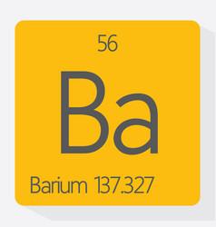 barium vector image