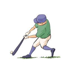 Baseball player hits the ball vector