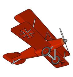 Biplane style vintage airplane retro plane or vector