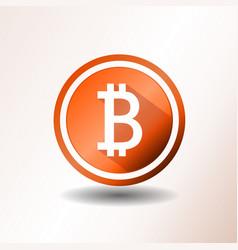 Bitcoin icon vector