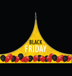 Black friday sale promotion web banner with open vector