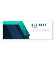 blue green design modern business banner im vector image