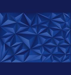 blue polygon triangle pattern design modern vector image