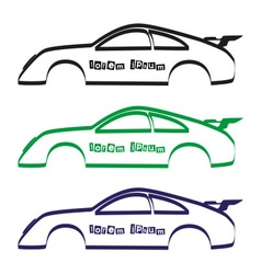 Car body silhouette for your commercial use eps10 vector