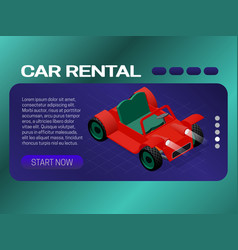 Car rental banner concept web page header design vector